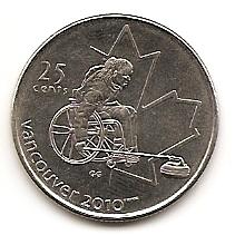 Кёрлинг на колясках X зимние Паралимпийские Игры, Ванкувер 2010 25 центов Канада 2007