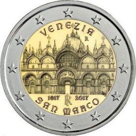 400 лет завершения строительства собора Святого Марка в Венеции 2 евро Италия 2017