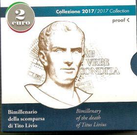2000 лет со смерти Тита Ливия 2 евро Италия PROOF на заказ