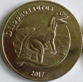 Динозавры набор 1 франк Майотта Франция 2017 (3 серия)