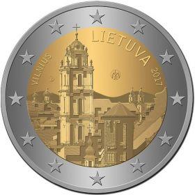 Вильнюс - город культуры и искусства 2 евро Литва 2017