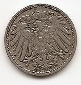 5  пфеннигов Германская империя 1908 G