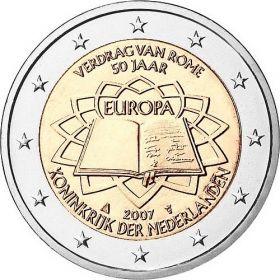 Римский договор 2 евро Нидерланды 2007