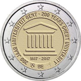 200 лет основания Гентского университета 2 евро Бельгия 2017 Блистер
