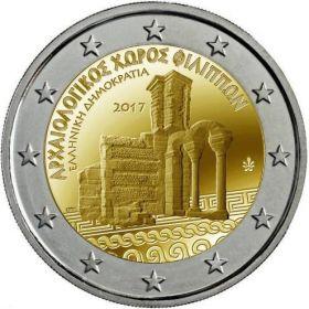 Археологический комплекс Филиппы 2 евро Греция 2017