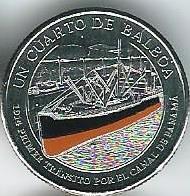 100 лет Панамскому каналу.Первый трафик. 1/4 бальбоа Панама 2016