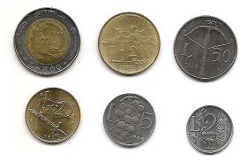 Набор монет Сан-Марино 1989 (6 монет)