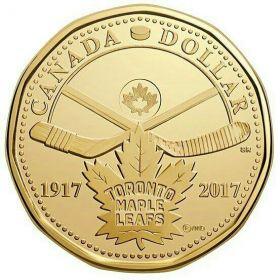 Хоккейный клуб НХЛ Торонто (Toronto Maple Leafs)1 доллар Канада 2017