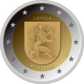 Герб Курземе   2 евро Латвия  2017