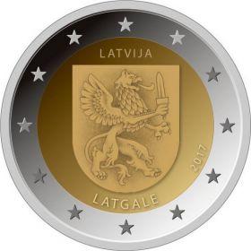 Герб Латгале   2 евро Латвия  2017