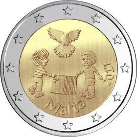 Мир детям 2 евро  Мальта  2017