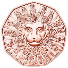 Львиная сила  5 евро Австрия 2018 Новогодняя монета! На заказ