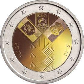 100 лет независимости прибалтийских государств 2 евро Эстония  2018