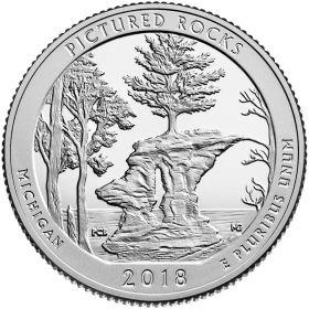 Национальное побережье живописных камней(Мичиган) 25 центов США 2018 Монетный Двор на выбор