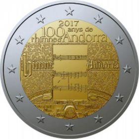 100 лет гимну Андорры 2 евро Андорра 2017